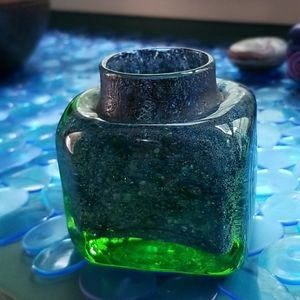 Nowegian Glass Candle Holder